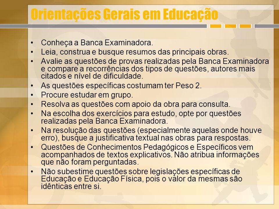 Orientações Gerais em Educação