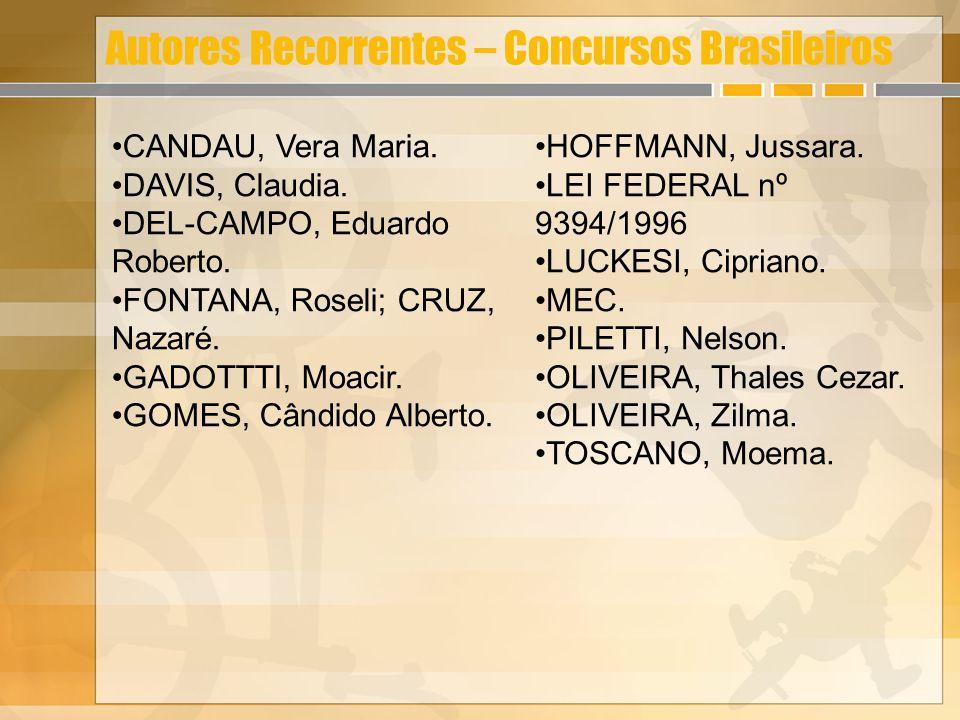 Autores Recorrentes – Concursos Brasileiros