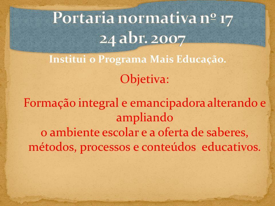 Portaria normativa nº 17 24 abr. 2007