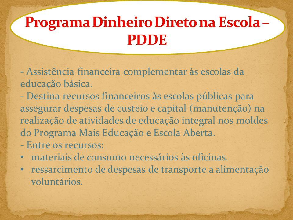 Programa Dinheiro Direto na Escola – PDDE