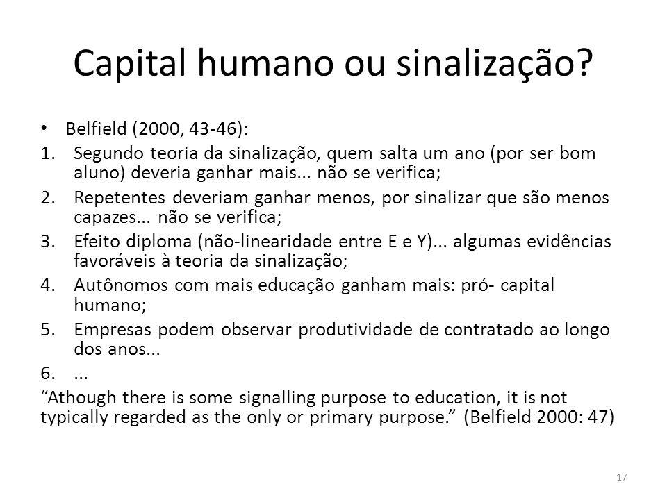 Capital humano ou sinalização