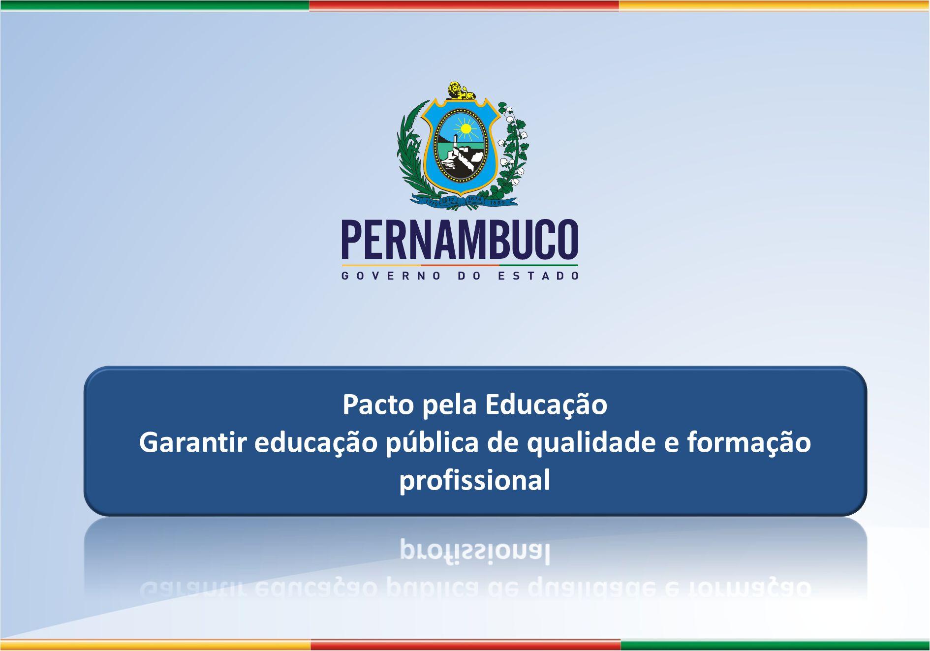 Garantir educação pública de qualidade e formação profissional