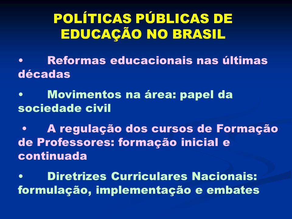 POLÍTICAS PÚBLICAS DE EDUCAÇÃO NO BRASIL