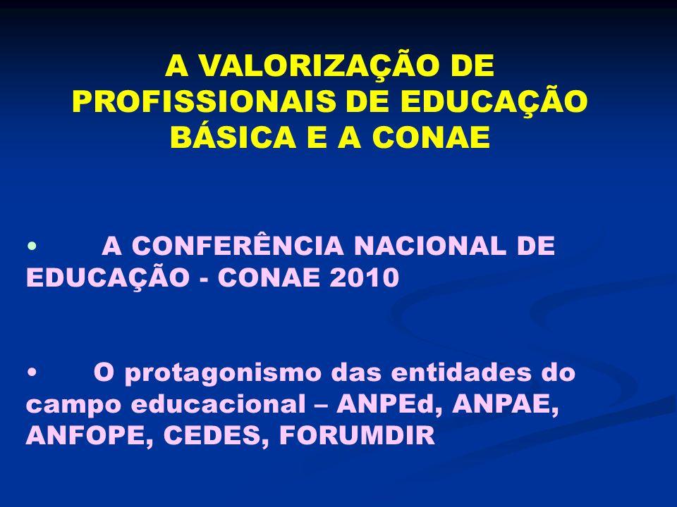 A VALORIZAÇÃO DE PROFISSIONAIS DE EDUCAÇÃO BÁSICA E A CONAE