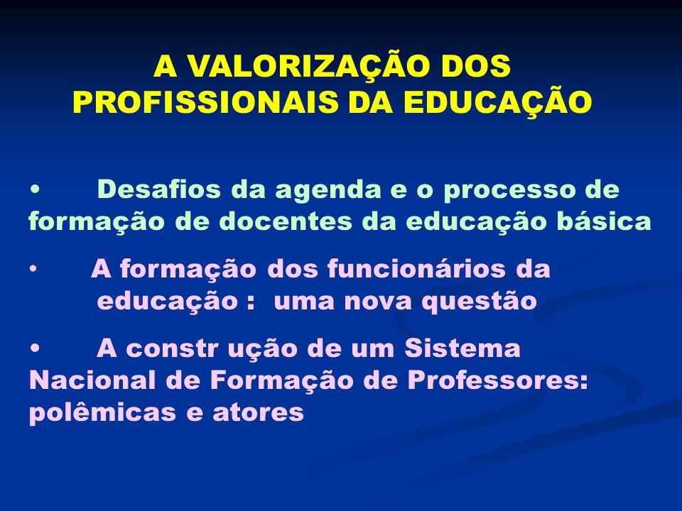 A VALORIZAÇÃO DOS PROFISSIONAIS DA EDUCAÇÃO