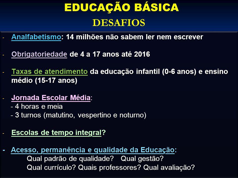 EDUCAÇÃO BÁSICA DESAFIOS