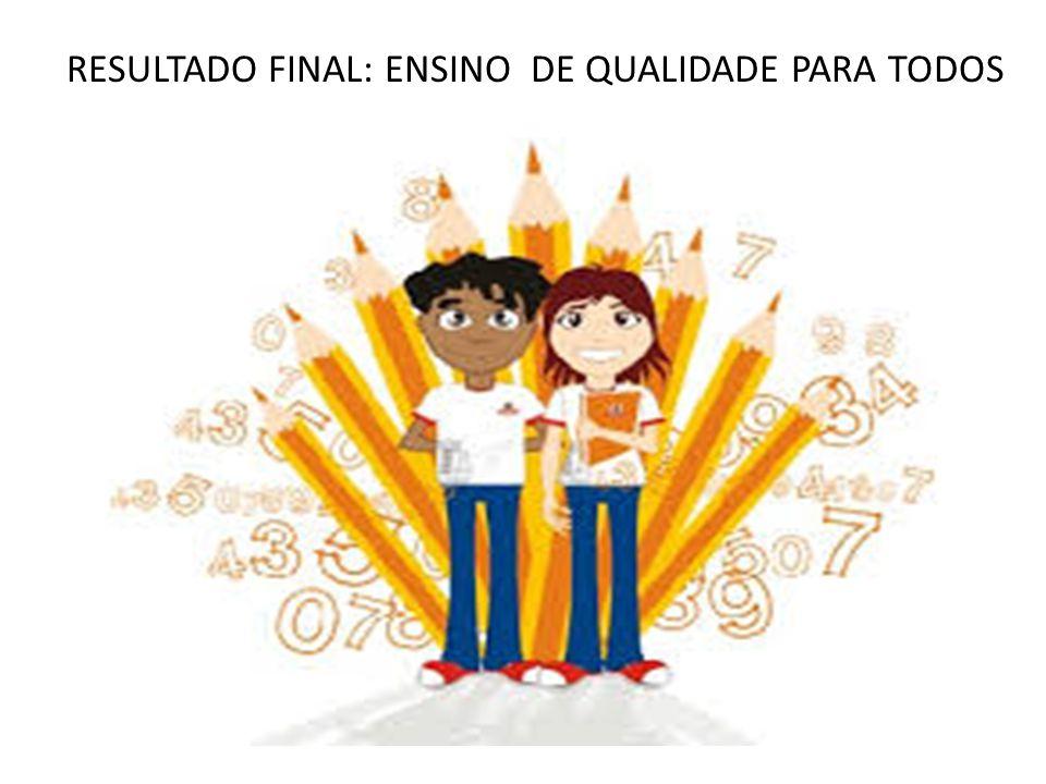 RESULTADO FINAL: ENSINO DE QUALIDADE PARA TODOS