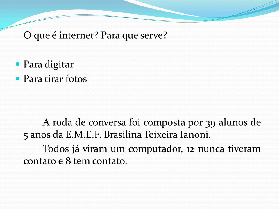 O que é internet Para que serve