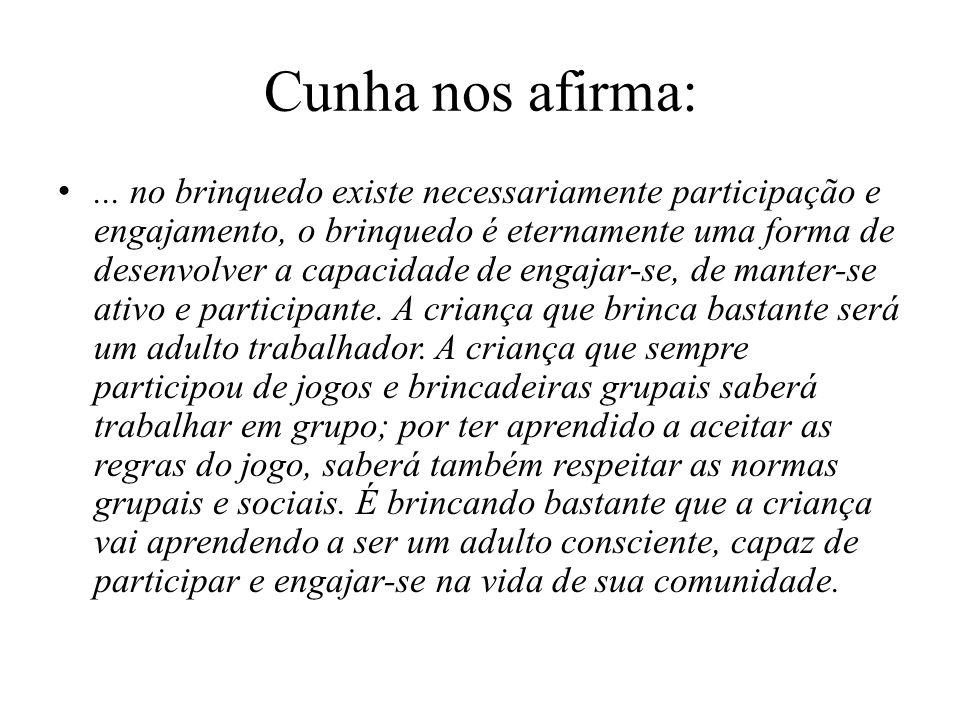 Cunha nos afirma: