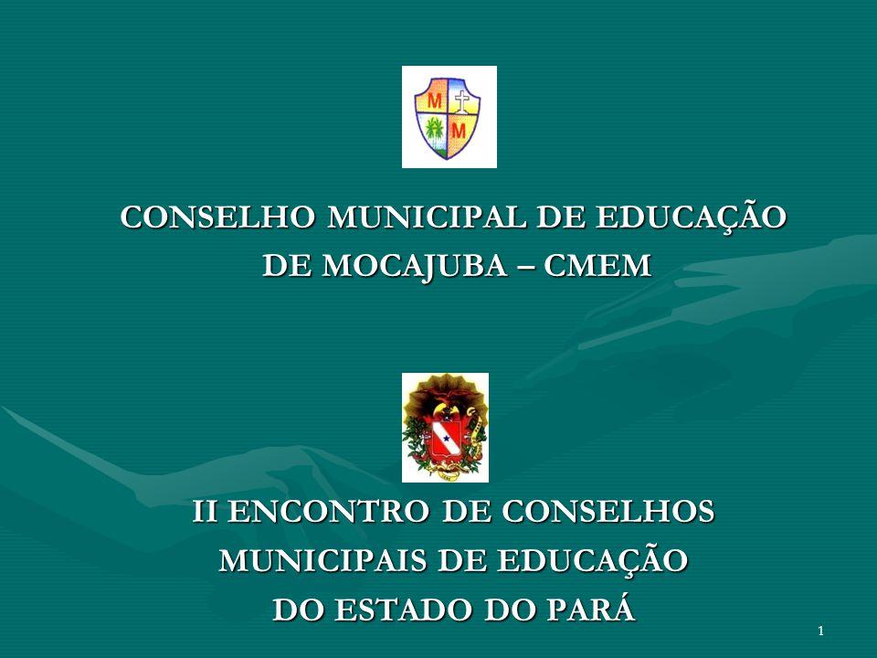 CONSELHO MUNICIPAL DE EDUCAÇÃO DE MOCAJUBA – CMEM