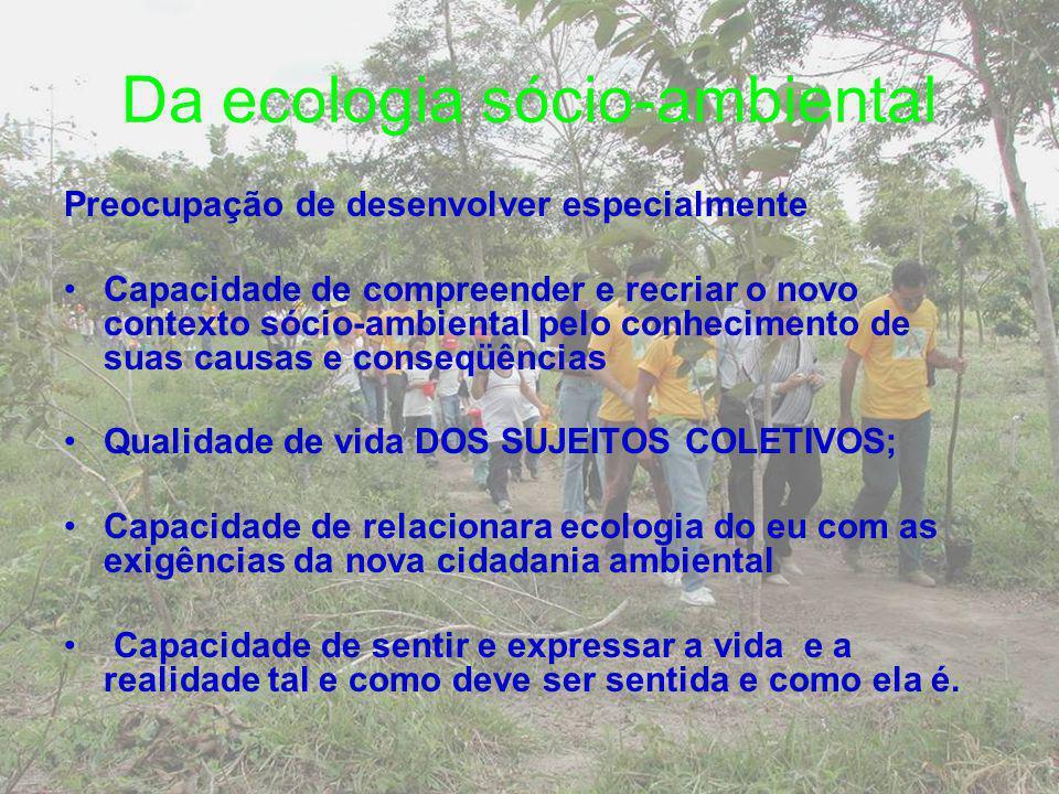 Da ecologia sócio-ambiental