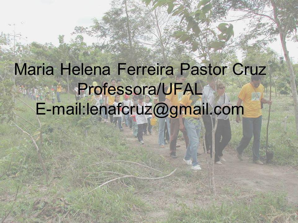 Maria Helena Ferreira Pastor Cruz Professora/UFAL E-mail:lenafcruz@gmail.com