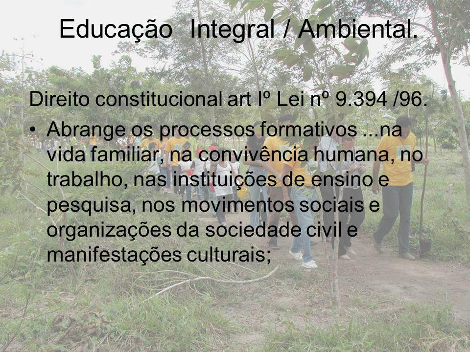 Educação Integral / Ambiental.