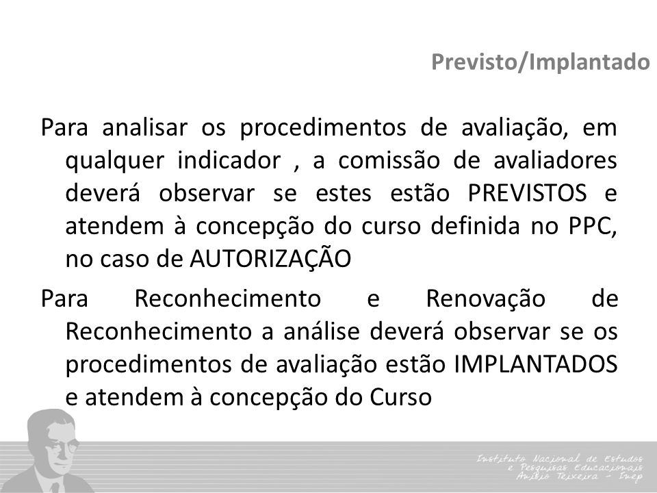 Previsto/Implantado