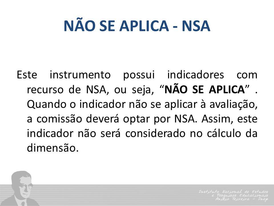 NÃO SE APLICA - NSA