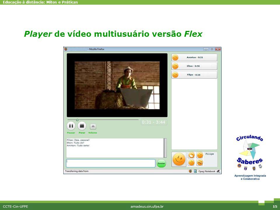 Player de vídeo multiusuário versão Flex