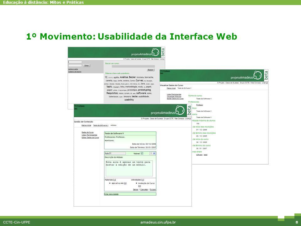 1º Movimento: Usabilidade da Interface Web