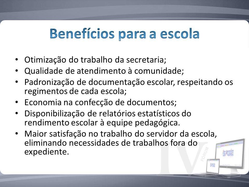 Benefícios para a escola