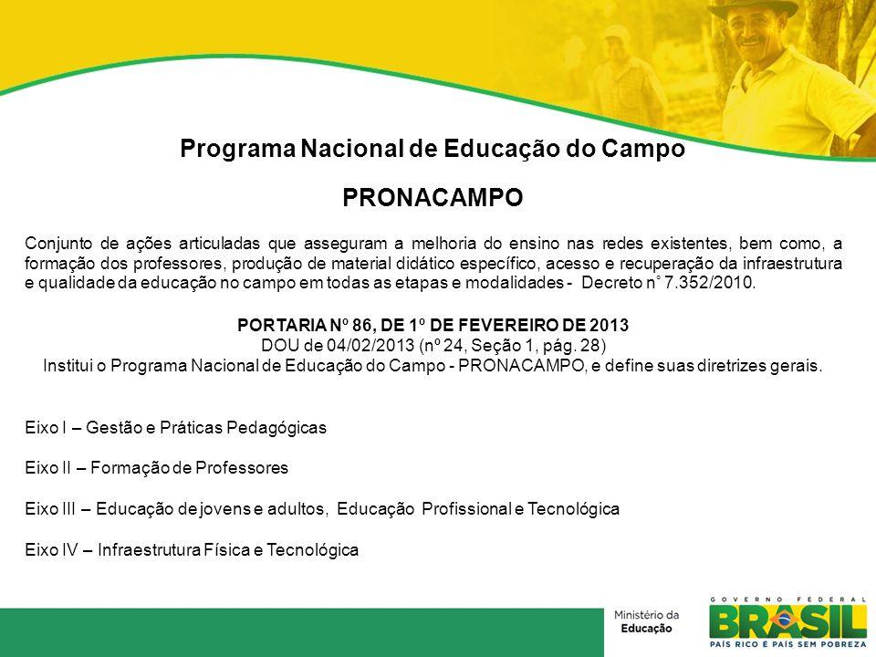 Programa Nacional de Educação do Campo PRONACAMPO