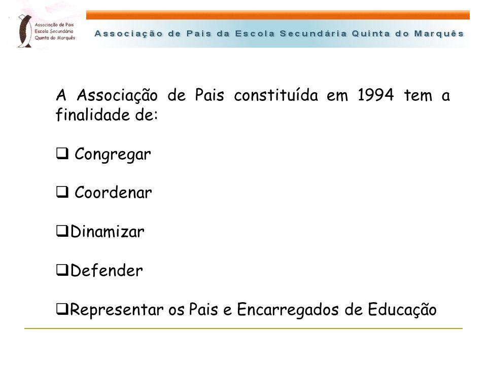A Associação de Pais constituída em 1994 tem a finalidade de: