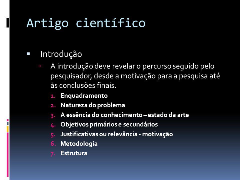 Artigo científico Introdução