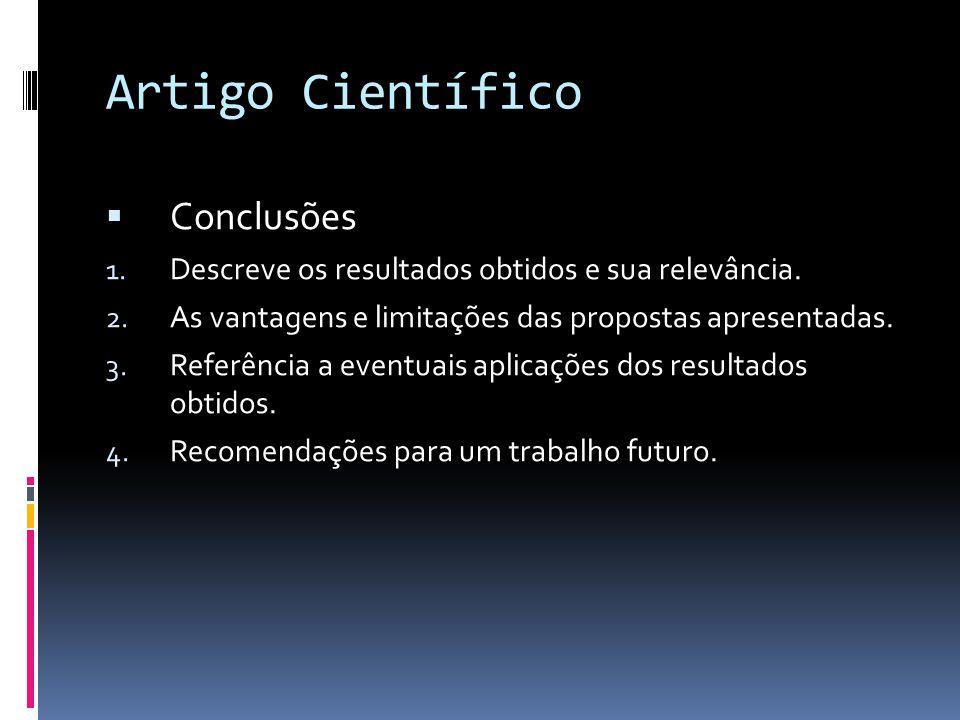 Artigo Científico Conclusões