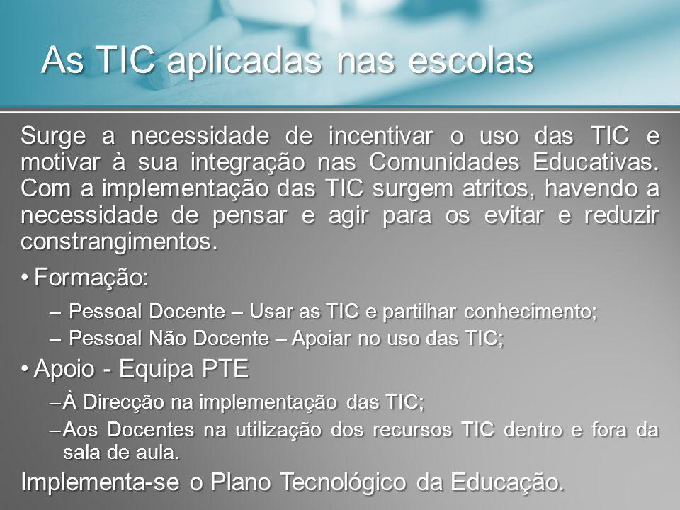 As TIC aplicadas nas escolas