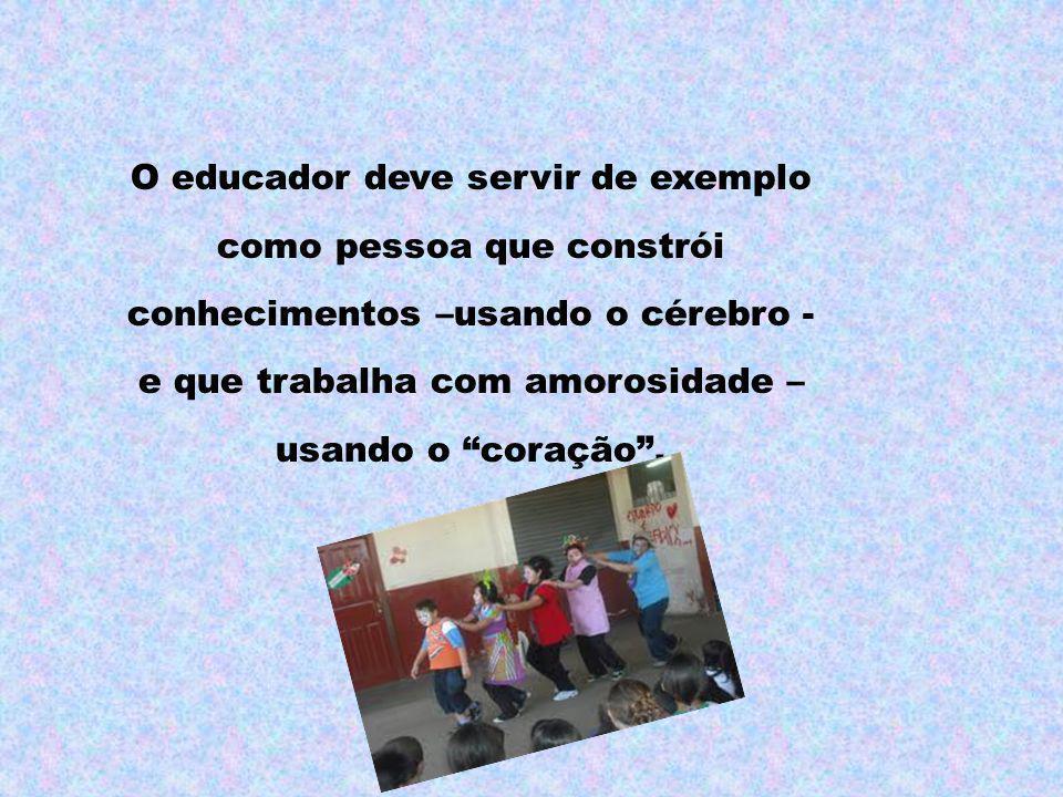 O educador deve servir de exemplo
