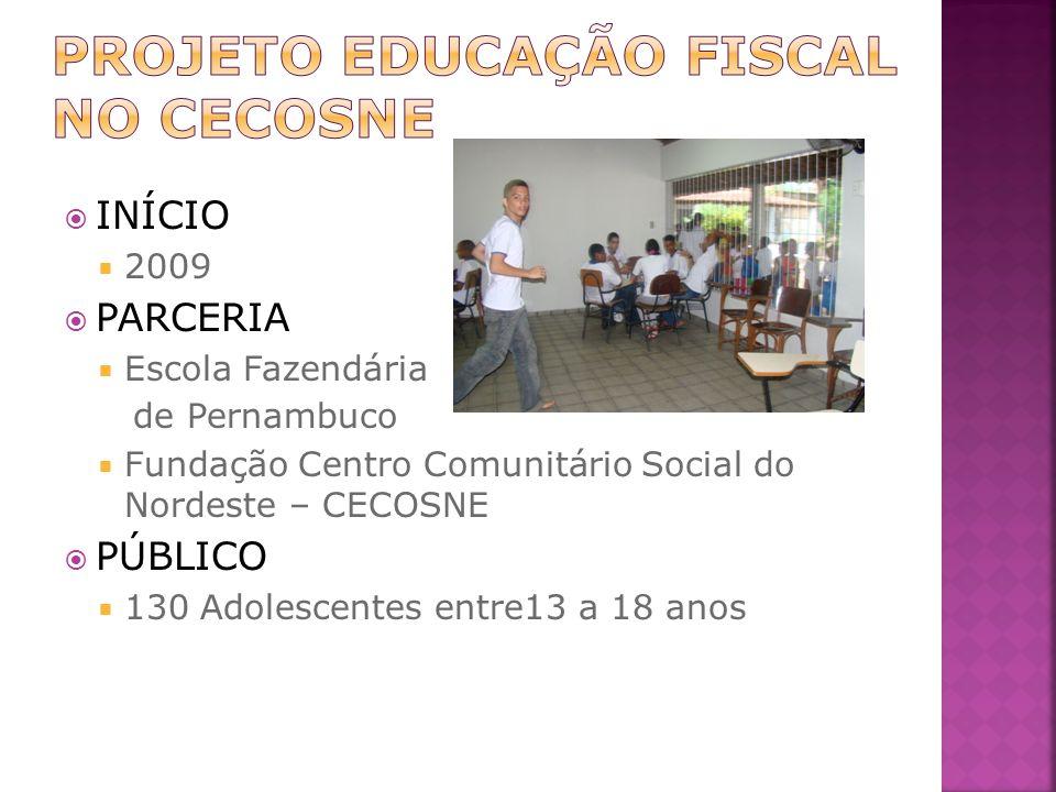 PROJETO EDUCAÇÃO FISCAL NO CECOSNE