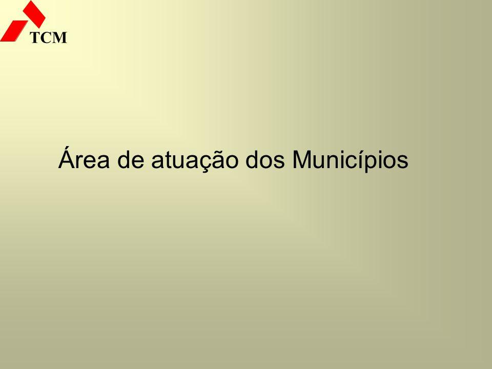 Área de atuação dos Municípios