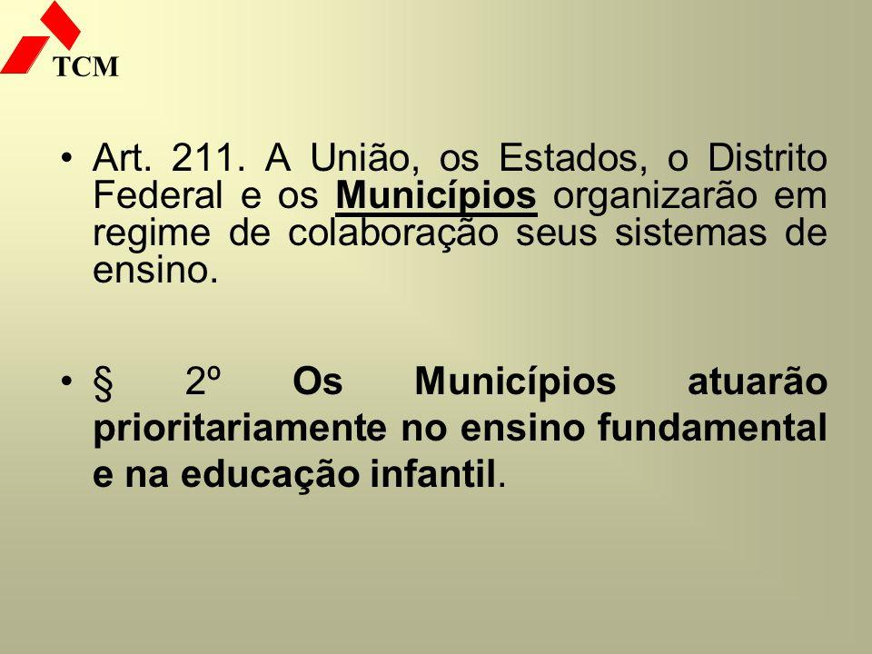 Art. 211. A União, os Estados, o Distrito Federal e os Municípios organizarão em regime de colaboração seus sistemas de ensino.