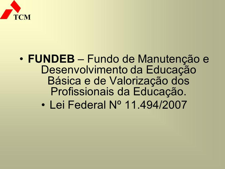 FUNDEB – Fundo de Manutenção e Desenvolvimento da Educação Básica e de Valorização dos Profissionais da Educação.