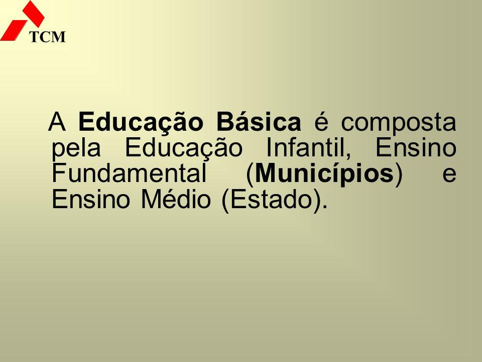 A Educação Básica é composta pela Educação Infantil, Ensino Fundamental (Municípios) e Ensino Médio (Estado).
