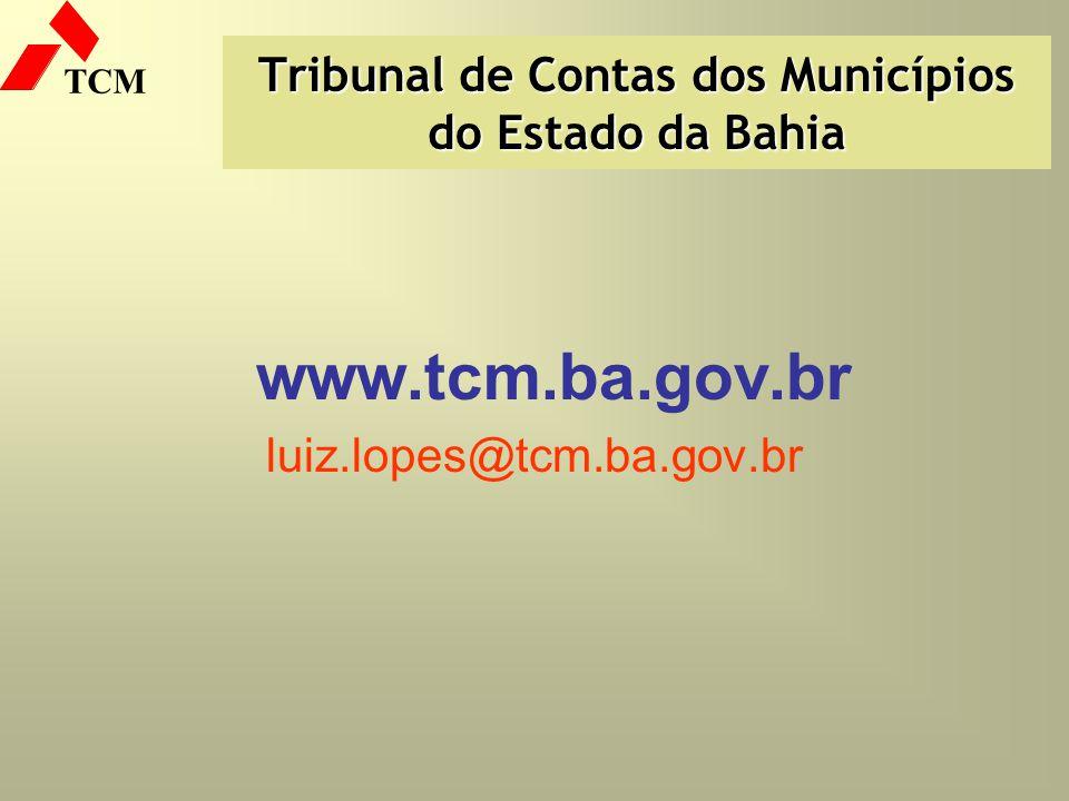 Tribunal de Contas dos Municípios do Estado da Bahia