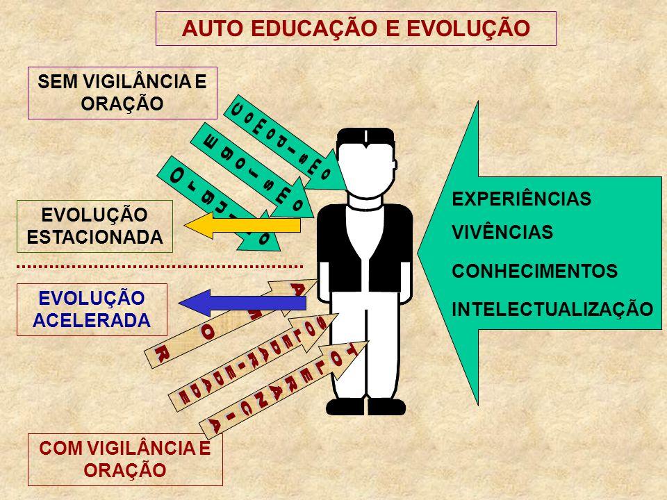 AUTO EDUCAÇÃO E EVOLUÇÃO Egoísmo Comodismo Orgulho