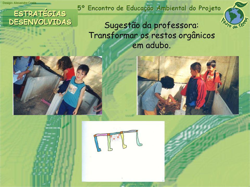 Sugestão da professora: Transformar os restos orgânicos em adubo.