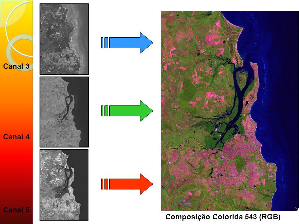 Canal 3 Canal 4 Canal 5 Composição Colorida 543 (RGB)