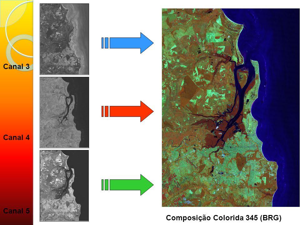 Canal 3 Canal 4 Canal 5 Composição Colorida 345 (BRG)