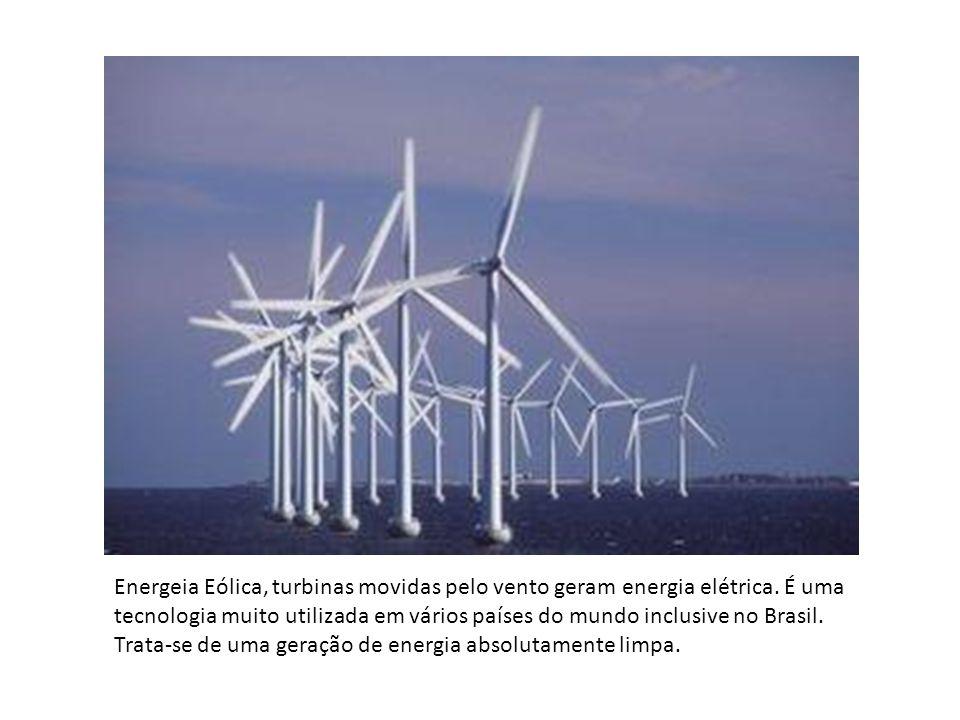 Energeia Eólica, turbinas movidas pelo vento geram energia elétrica