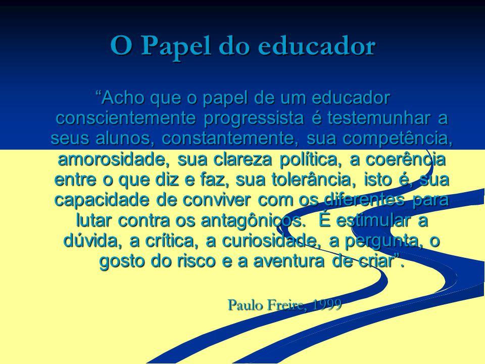 O Papel do educador