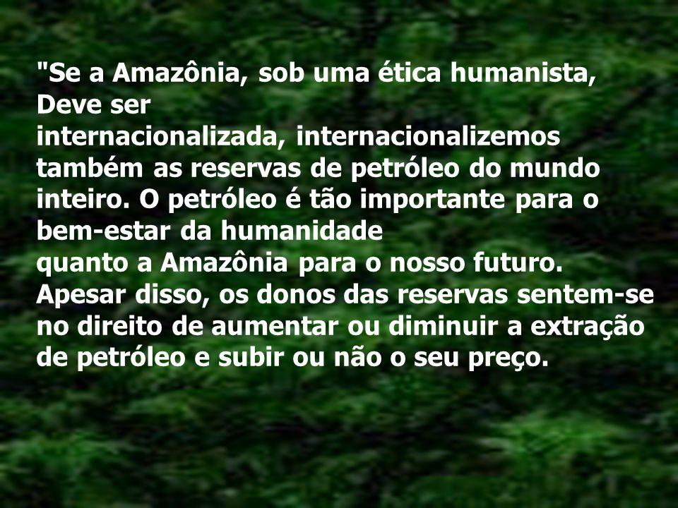 Se a Amazônia, sob uma ética humanista,