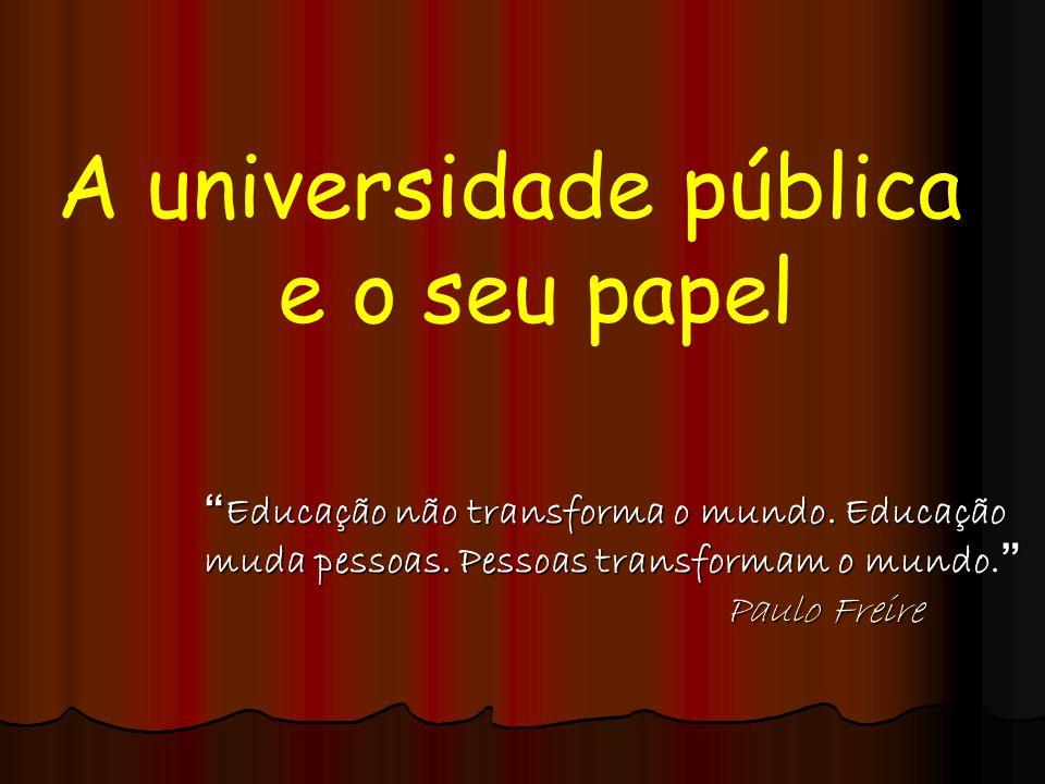 A universidade pública e o seu papel