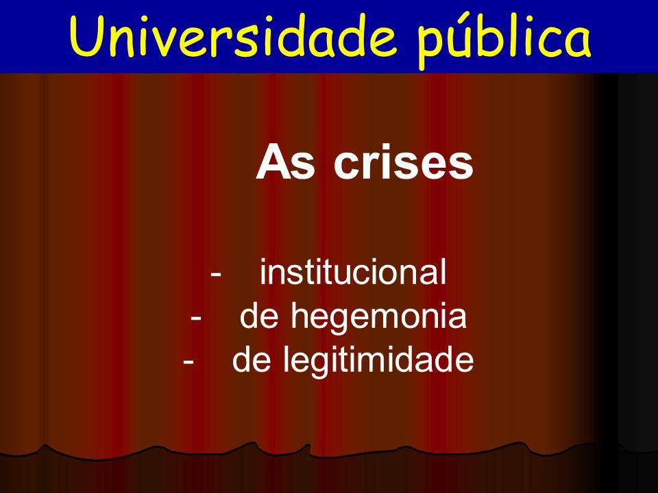 Universidade pública institucional de hegemonia de legitimidade