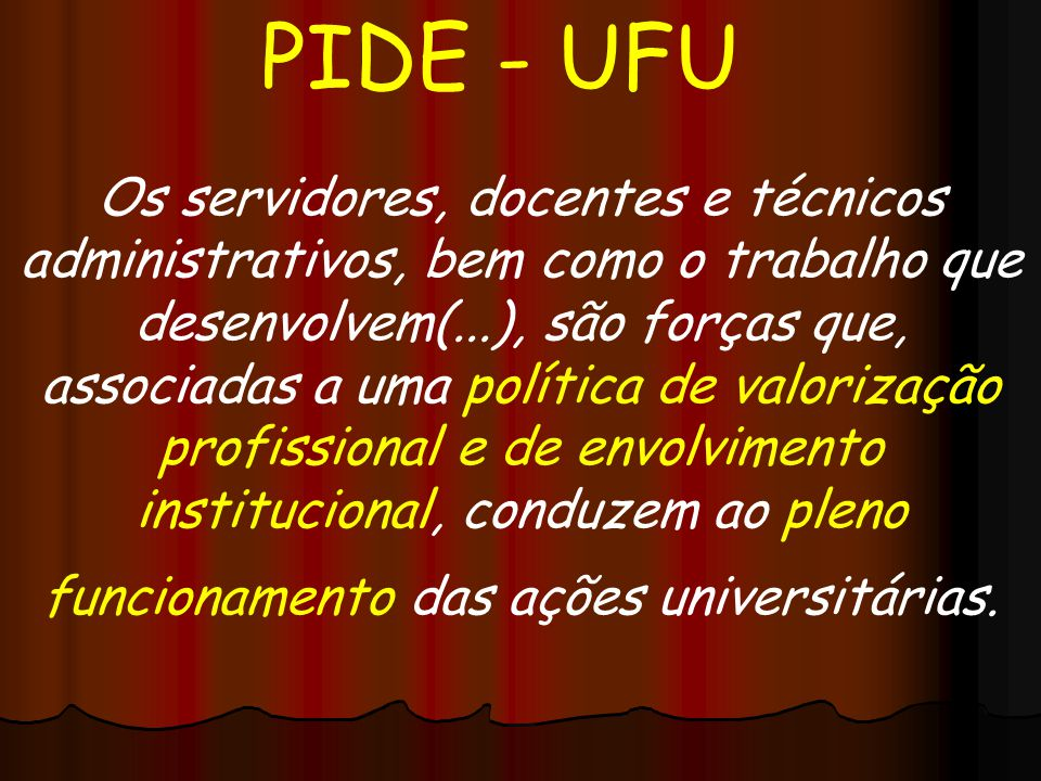 PIDE - UFU