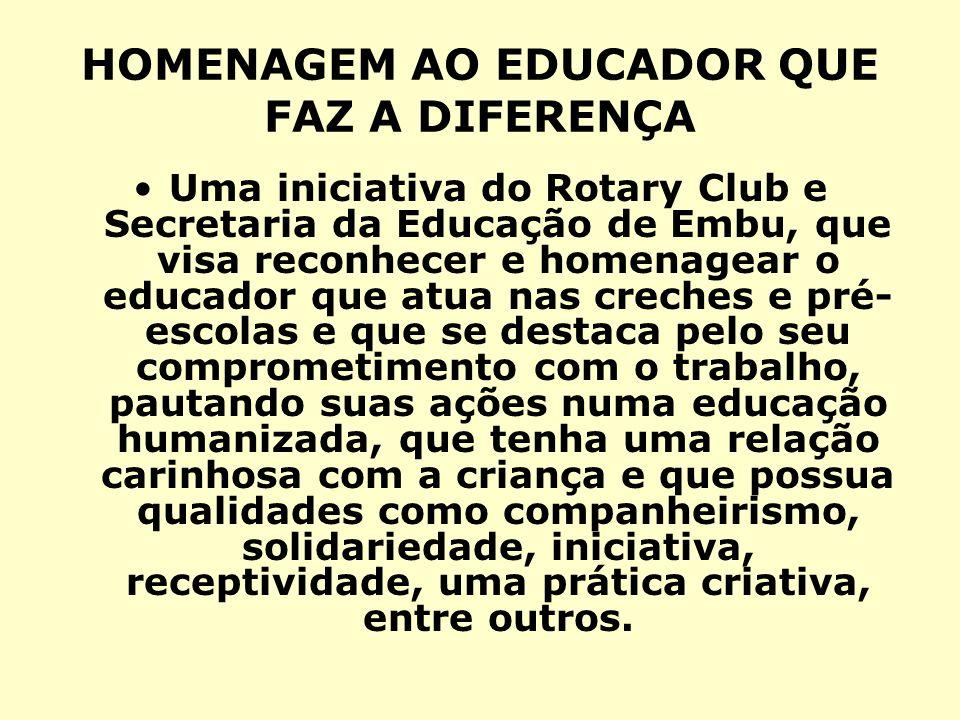 HOMENAGEM AO EDUCADOR QUE FAZ A DIFERENÇA