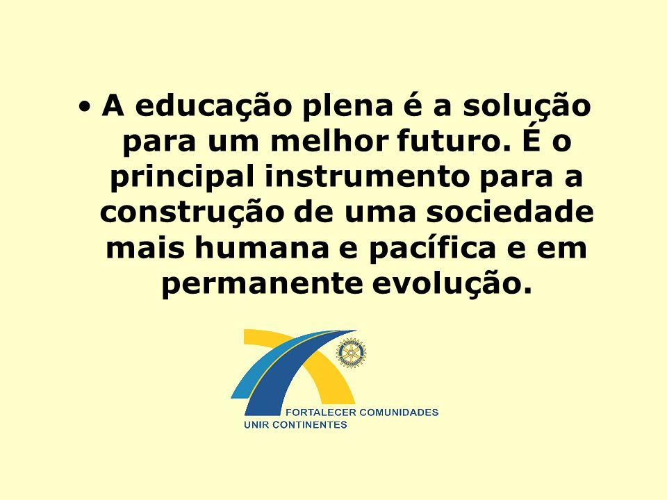 A educação plena é a solução para um melhor futuro