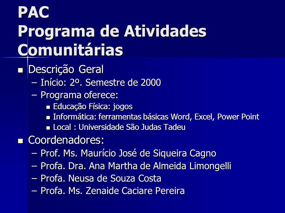 PAC Programa de Atividades Comunitárias