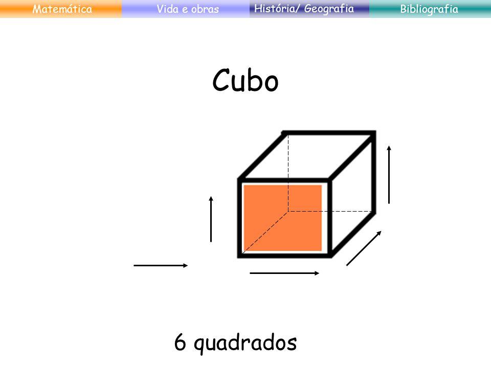 Cubo 6 quadrados Matemática Vida e obras História/ Geografia