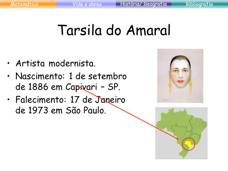 Tarsila do Amaral Artista modernista.