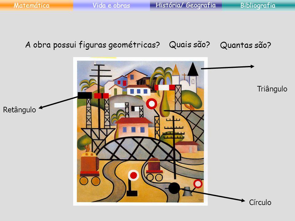 A obra possui figuras geométricas Quais são Quantas são